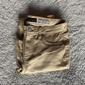 aeropostale khaki high-waisted jegging